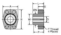 Parker WBT Code 61 Weld Butt Tank Adapter