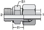 Parker GE-M-ED - EO Male Connectors