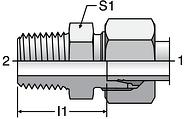 Parker GE-M - EO Male Connectors