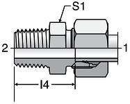 Parker GE-NPT - EO Male Connectors