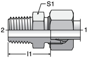 Parker GE-R - EO Male Connectors