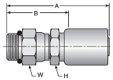 Parker HY series 10GHY crimp fitting