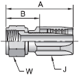 Parker 22 series 20822 fitting