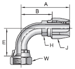 Parker 21 series 23921 field attachable fitting