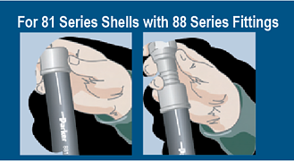 81 series shells with 88 series fittings