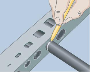 Mark hose insertion depth