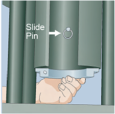Lift back half of split die ring