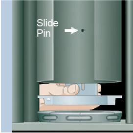 Pull slide pin forward