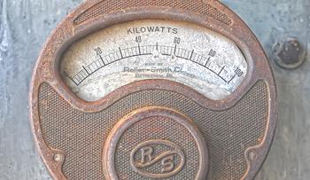 Old analog meter