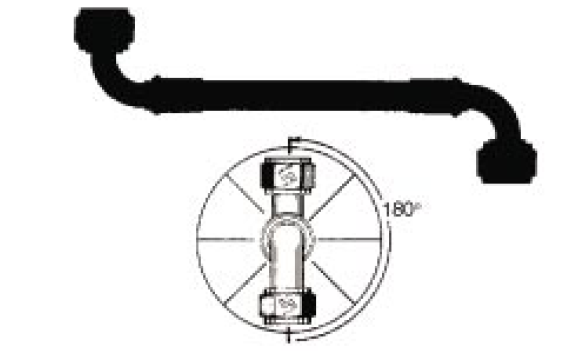 Each hose assembly has five parts