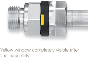 Parker EO-3 Flareless Fitting System Yellow Window