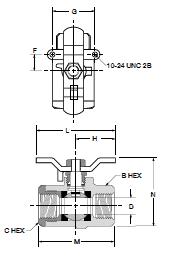 Female Pipe Panel Mount 1 1 Parker V502P-16 Industrial Brass Ball Valve Female to Female Brass