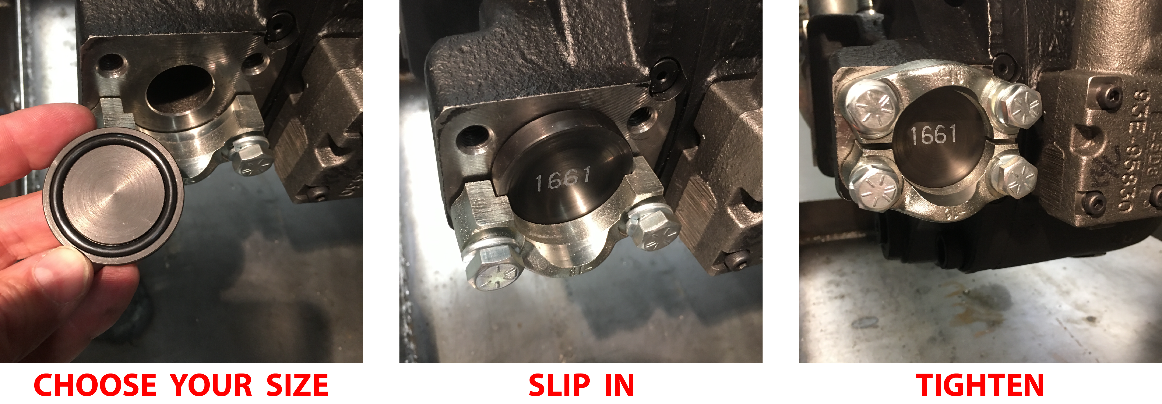 Using FlangeLock slug to seal open port