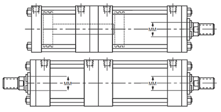 Parker Air Cylinder Duplex Cylinders